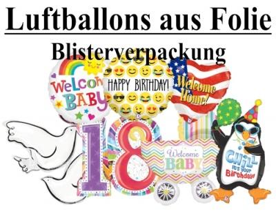 Folien-Luftballons, verpackt