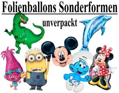 Sonderformen Folien-Luftballons, unverpackt
