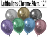 Chrome Latexballons, 30 cm Rundballons
