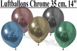 Chrome Latexballons, 35 cm Rundballons