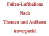 Folien-Luftballons nach Themen und Anlässen