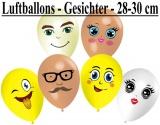 Luftballons Gesichter, 28-30 cm