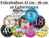 Luftballons Geburtstag, 43-45 cm