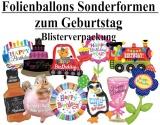 Luftballons Folie, Geburtstag Sonderformen