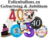 Geburtstag, Zahlen, Jubiläum, Luftballons aus Folie