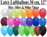 30 cm Latexballons, Rundballons