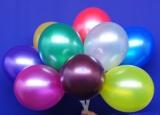 25-28 cm Latexballons, Metallic Rundballons, 100er Sortimente