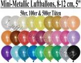 "8-12 cm Metallic Latexballons, Rundballons, 5"""