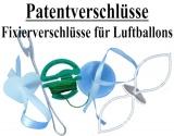 Ballonbänder mit Fixierverschlüssen