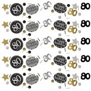 Konfetti Happy Birthday Sparkling Gold 80, 34 Gramm Packung