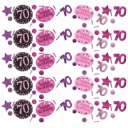 Konfetti Happy Birthday Sparkling Pink 70, 34 Gramm Packung