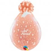Verpackungsballons, Stuffer, Just Married, 10 Stück, transparent