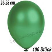 Latexballons, 25-28 cm cm, Metallic, Dunkelgrün, 100 Stück