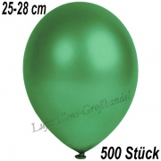Latexballons, 25-28 cm cm, Metallic, Dunkelgrün, 500 Stück