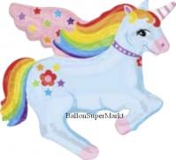 Folien-Luftballon Rainbow Unicorn, Shape, 10 Stück