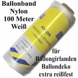 Ballonband 100 m Nylon Weiß, 1,2 mm