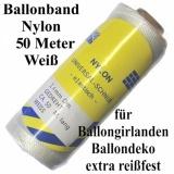 Ballonband 50 m Nylon Weiß, 1,4 mm