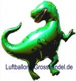 Folien-Luftballon Dinosaurier, Grün, Shape, 10 Stück