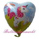 Luftballon, Folienballon, Einhorn, 45 cm, 10 Stück