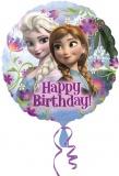 Folien-Luftballon Frozen, Happy Birthday, 5 Stück