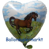 Luftballon, Folienballon, Pony, Pferd, 45 cm, 10 Stück