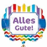 Folien-Luftballon Alles Gute, Shape, 5 Stück
