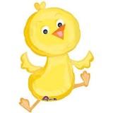 Folien-Luftballon Baby Chicken, Shape, 5 Stück