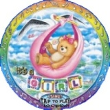 Folien-Luftballon Geburt, Baby Girl Musikballon, Shape