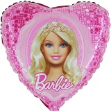 Luftballon, Folienballon, Barbie, Barbie-Glamorous, 45 cm, 10 Stück