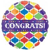 Folien-Luftballon Congrats!, Jumbo, 5 Stück