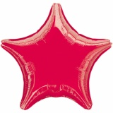 "Sternluftballon, Folie, 18"" - 45 cm, Rot"