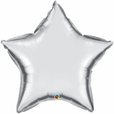 "Sternluftballon, Folie, 36"" - 90 cm, Silber"
