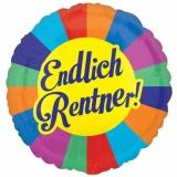 Folien-Luftballon Endlich Rentner, 5 Stück