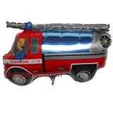 Folien-Luftballon Feuerwehrauto, Shape, 10 Stück