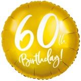 Folien-Luftballon 60th Birthday Gold, Geburtstag 60, 5 Stück