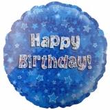 Folien-Luftballon Happy Birthday Blue, Geburtstag, 5 Stück