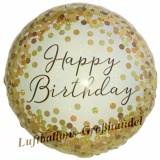 Folien-Luftballon Happy Birthday Gold Sparkle, Geburtstag, 5 Stück