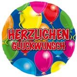Folien-Luftballon Herzlichen Glückwunsch, 5 Stück
