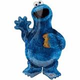 Folien-Luftballon Cookie Monster, Shape, 5 Stück