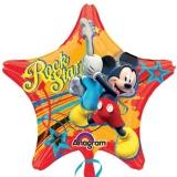 Luftballon, Folienballon, Mickey Maus Rockstar, 5 Stück