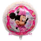 Luftballon, Folienballon, Minnie holo, 53 cm, 10 Stück