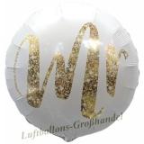 Luftballon Hochzeit, Mr Gold Glimmer, 5 Stück