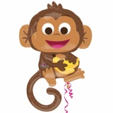 Folien-Luftballon Funny Monkey, Shape, 5 Stück
