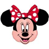 Folien-Luftballon Minnie Mouse, Shape, 10 Stück