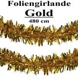 Foliengirlande, gold, 4,8 m