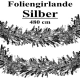 Foliengirlande, silber, 4,8 m