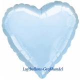 "Herzluftballon, Folie, 18"" - 45 cm, Hellblau Perlmutt"