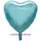 "Herzluftballon, Folie, 18"" - 45 cm, Light Blue"