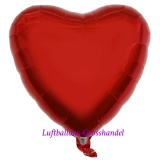 "Herzluftballon, Folie, 18"" - 45 cm, Rot"