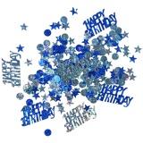Konfetti Happy Birthday Blau, holografisch, 15 Gramm Packung